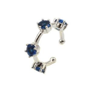 Σκουλαρίκι ear cuff Awear Kameron Blue, με μπλε ζιργκόν